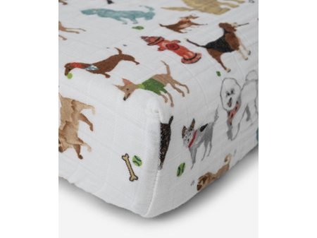Little Unicorn Muslin Changing Pad Cover Woof