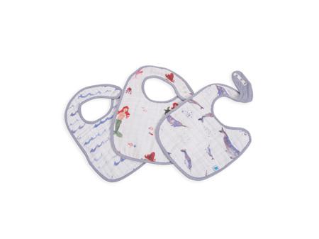 Little Unicorn - Muslin Classic 3 Pack Bibs Ocean Friends