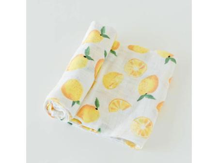 Little Unicorn Single Cotton Muslin Swaddle - Lemon