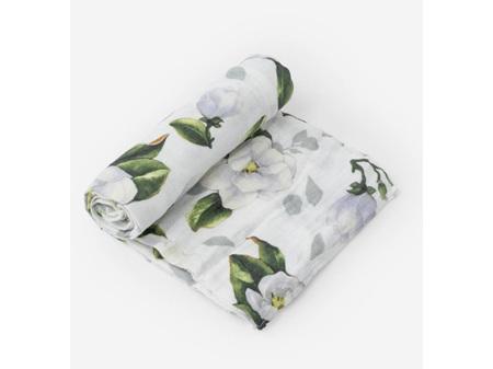 Little Unicorn Single Cotton Muslin Swaddle -Magnolia Blossoms