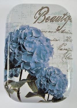 Little Vintage-Style Tin: Blue Flowers