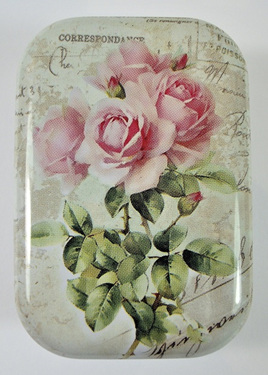 Little Vintage-Style Tin: Pink Rose