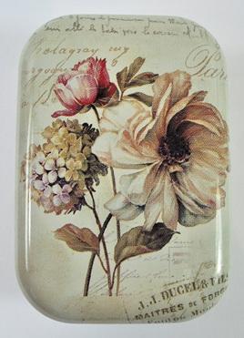 Little Vintage-Style Tin: Victoriana Flowers