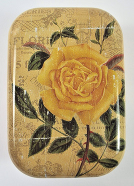 Little Vintage-Style Tin: Yellow Rose