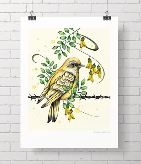 Little yellow bird - limited edition