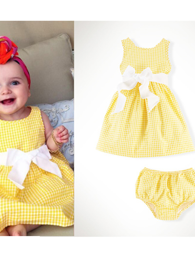 little yellow dress and pants