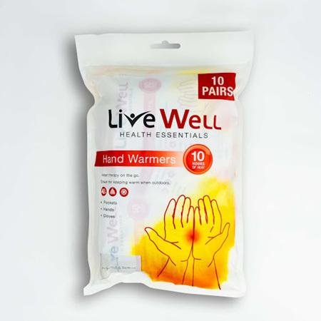 LIVE WELL HAND WARMER 10 PK