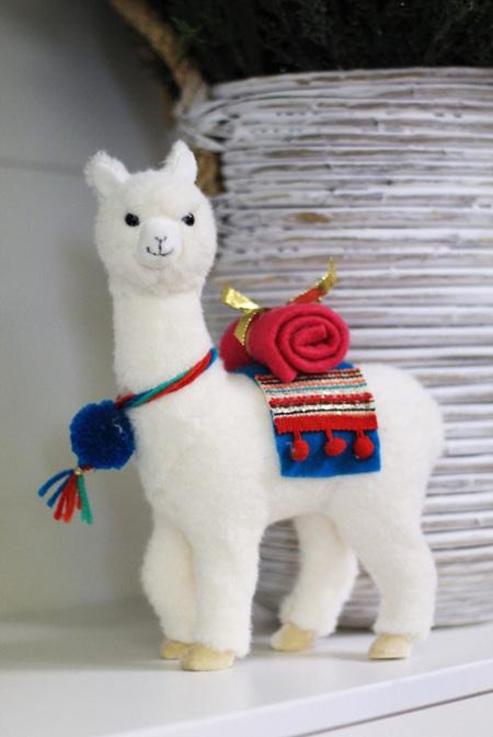 Llama with blanket - so cute!