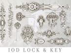 Lock & Key IOD Decor Mould
