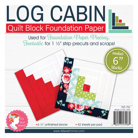 """Log Cabin 6"""" Foundation Paper from It's Sew Emma"""