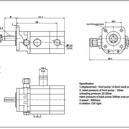 Log Splitter Pump - 16GPM
