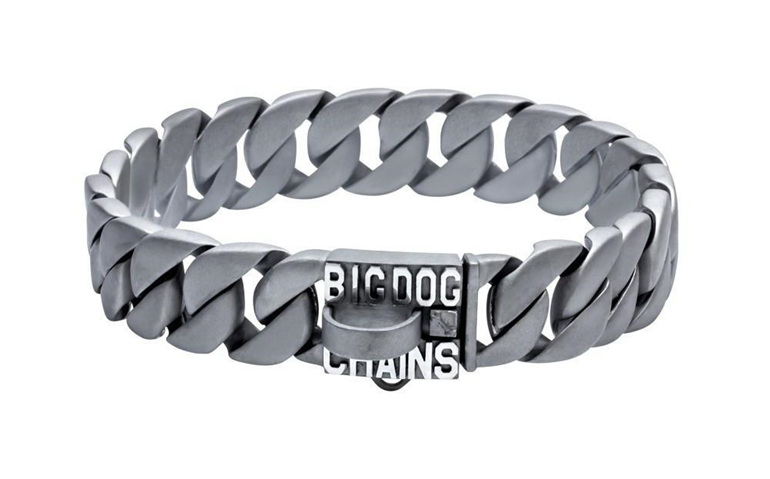 Lone Star Large Matte Finish Dog Collar by Big Dog Chains