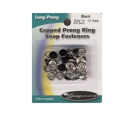 Long Prong Snaps - Black