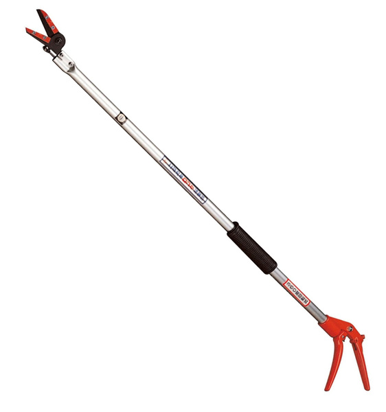 Long reach fruit pickers or long reach pole secateurs for light pruning work