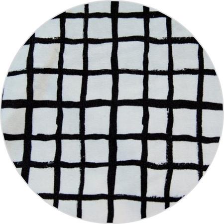 """Loose Grid"", White,  GOTS Organic 100% Cotton Knit, 230 gsm"