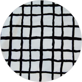 """Loose Grid"", White,  GOTS Organic 100% Cotton Knit, 230 gsm"
