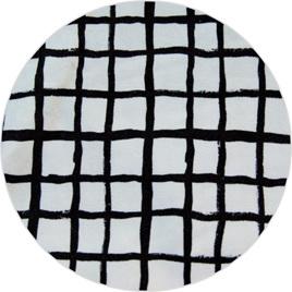 """Loose Grid"", White,  GOTS Organic Cotton Knit, 230 gsm"