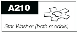 A210 Star washer for P100 & P50 Pro-Pruner
