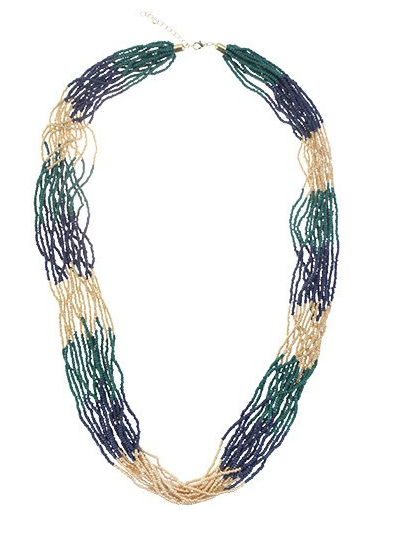 LOREN NECKLACE DARK BLUE