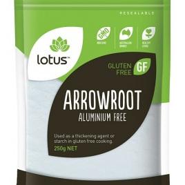 Lotus Arrowroot Powder (Aluminium Free) 250g