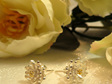 Lotus flower stud earrings