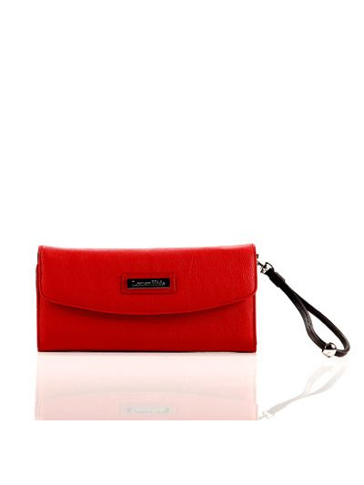 LOUENHIDE INDIGO CLUTCH / RED