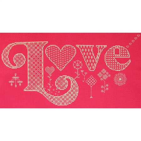 Love cross stitch/blackwork chart