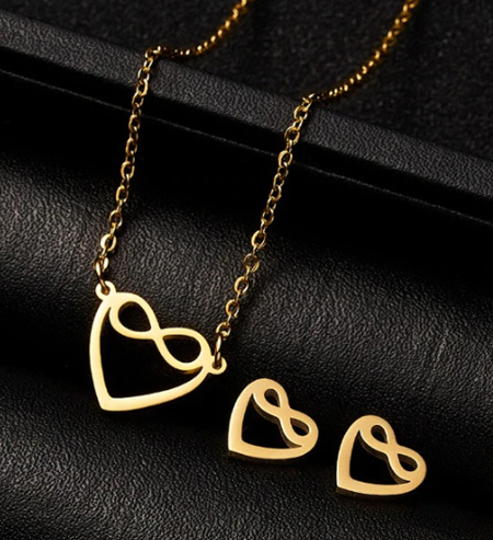 Love for Enternity Earrings & Necklace Set