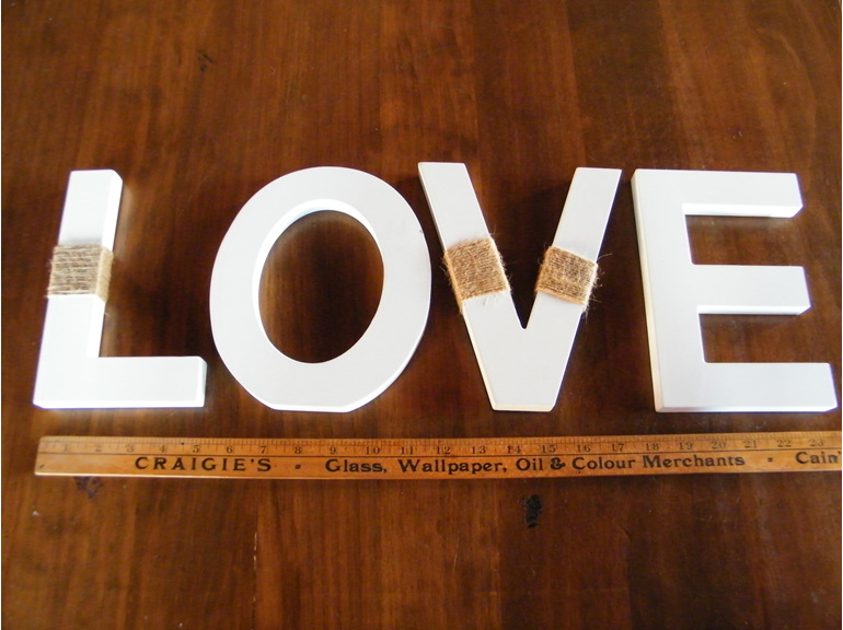 love table sign hire