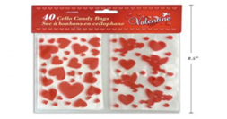 Loveheart cellophane bags -pack of 40!