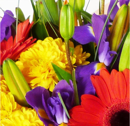 lovely bright mixed bouquet from flowerise