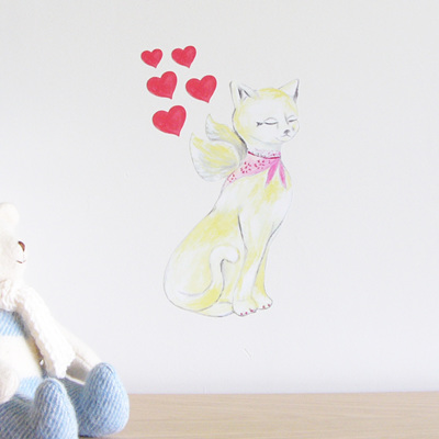Lovely Cat small wall decal