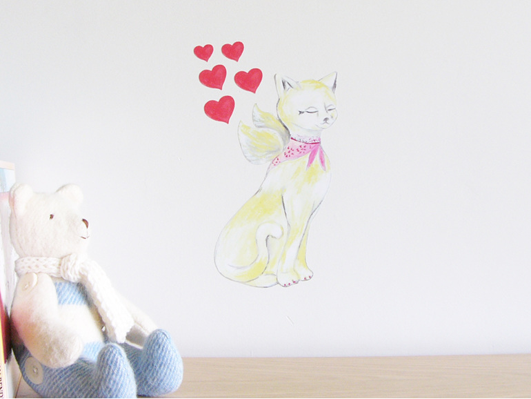 Lovely Cat wall decal