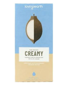 Loving Earth Chocolate Creamy Coconut Mylk Organic 80g