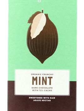 Loving Earth Dark Chocolate Mint 72% Organic 80g