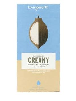 Loving Earth Organic Mylk Chocolate Creamy Coconut 80g