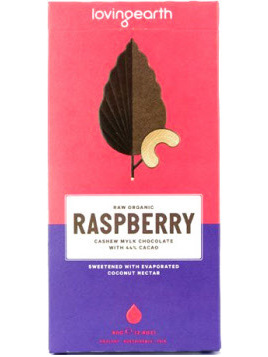 Loving Earth Organic Mylk Chocolate Raspberry Cashew 80g
