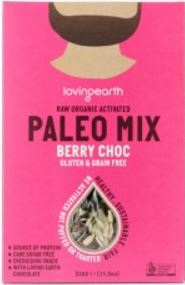 Loving Earth Raw Organic ActivatedPaleo Mix - Berry Choc 320gm