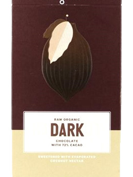 Loving Earth Raw Organic Bar 80g - Dark 72%