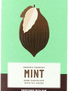Loving Earth Raw Organic Bar 80g - Mint Dark 72%