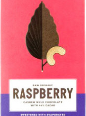 Loving Earth Raw Organic Bar 80g - Raspberry Cashew Mylk Choc