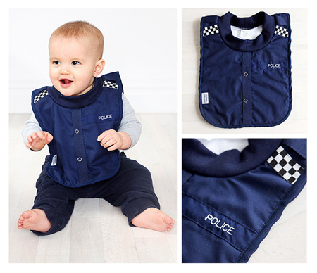 LP02 Baby Police Bib with no sleeves