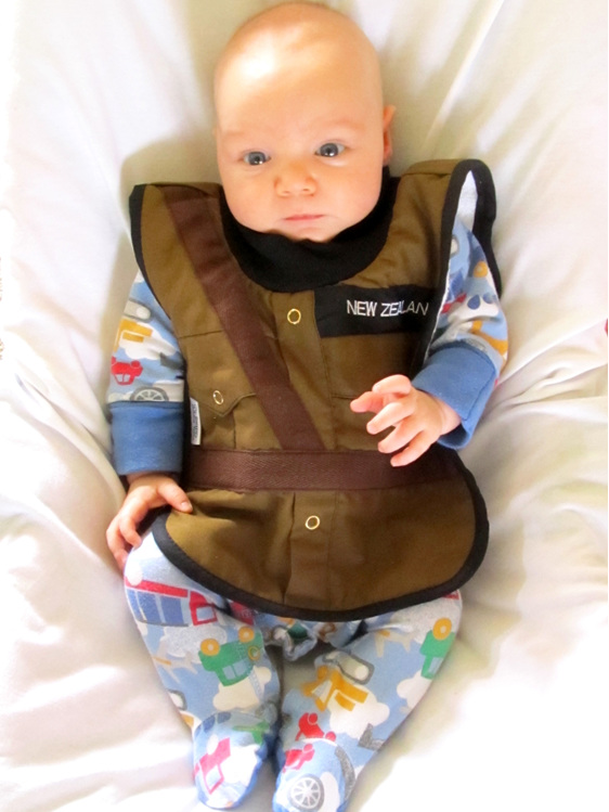 LP26 Dress Army Baby Bib