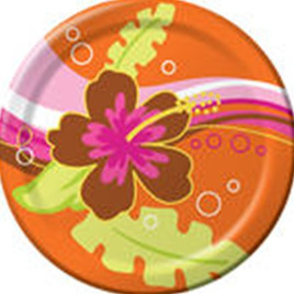 Luau Aloha Party Plates 17.1cm
