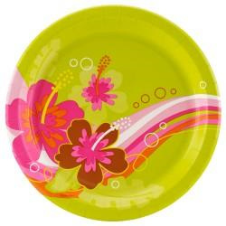 Luau Party Dinner Plates x 8