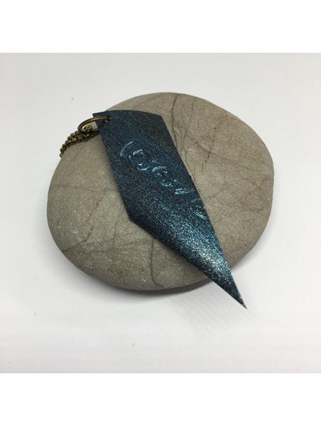 Lucifer blue quadrilateral necklace