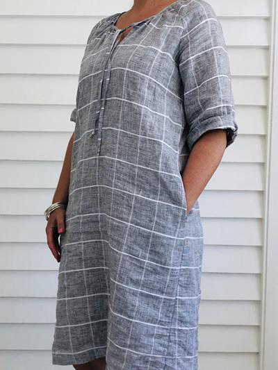 Lucinda Dress GREY CHECK