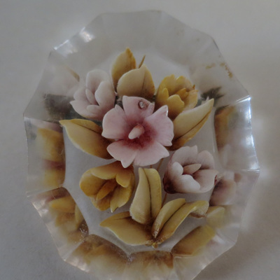 Lucite brooch