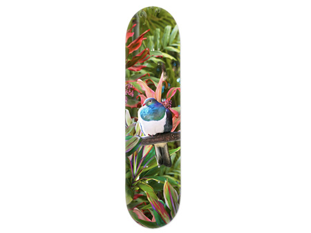 Lucy G Reflection, Kereru Skateboard Deck Art