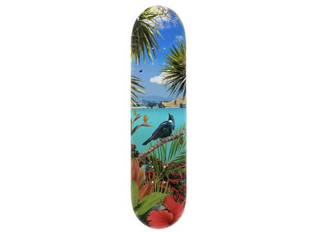 Lucy G Tui's Temple Skateboard Deck Art